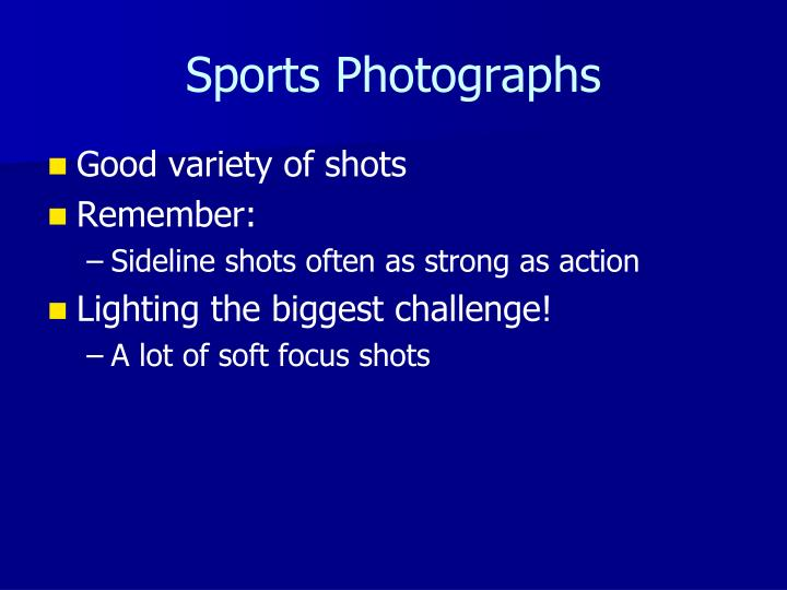 Sports Photographs