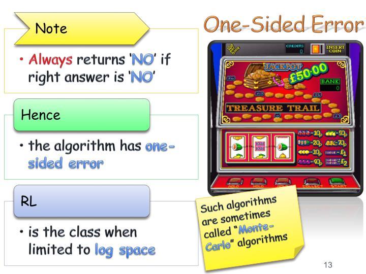 One-Sided Error
