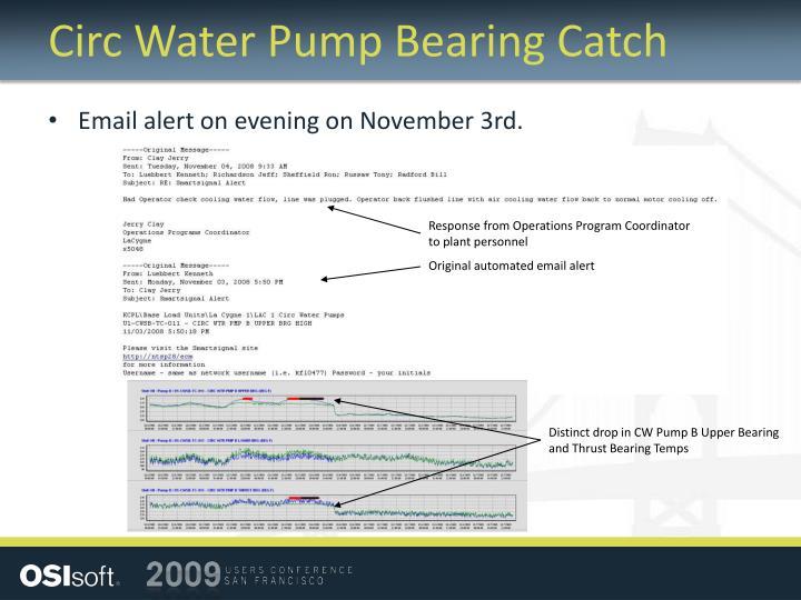 Circ Water Pump Bearing Catch