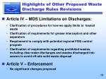 highlights of other proposed waste discharge rules revisions2