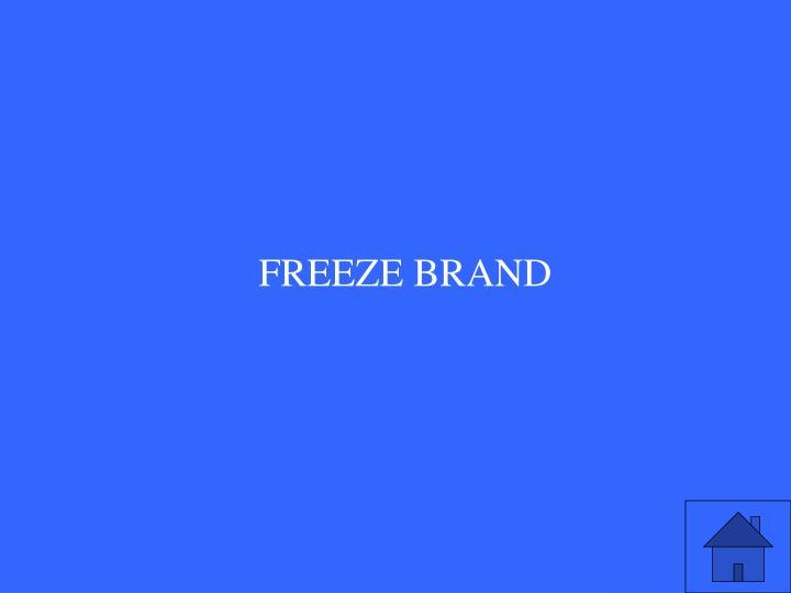 FREEZE BRAND
