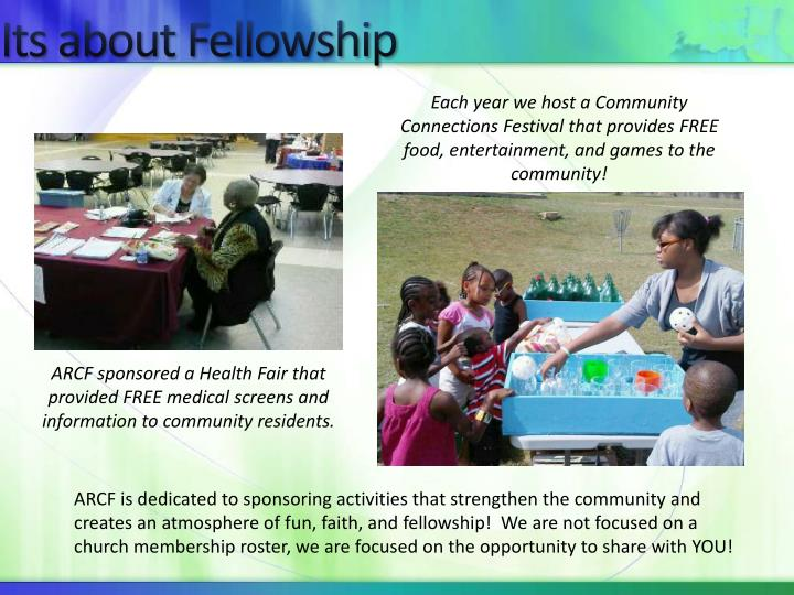 Its about Fellowship