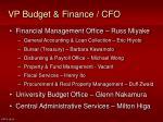 vp budget finance cfo