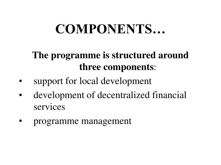 COMPONENTS…