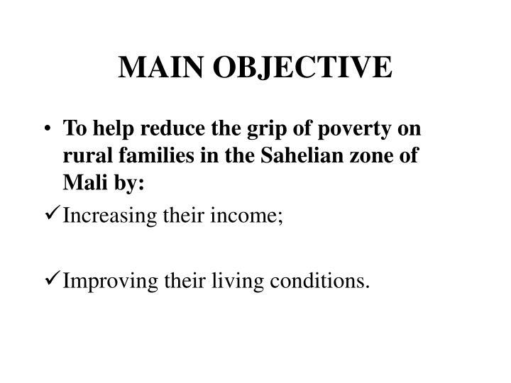 Main objective