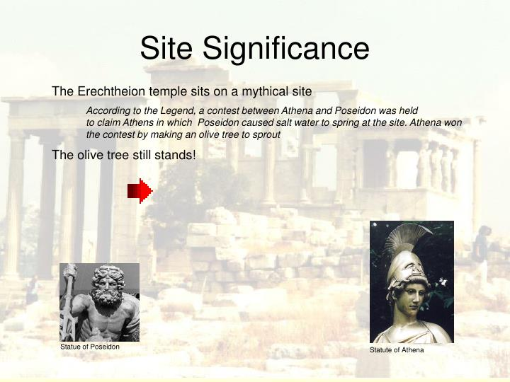 Site significance