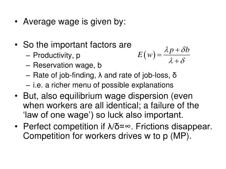 Average wage is given by: