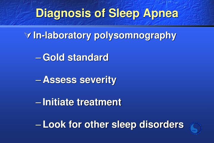 Diagnosis of Sleep Apnea