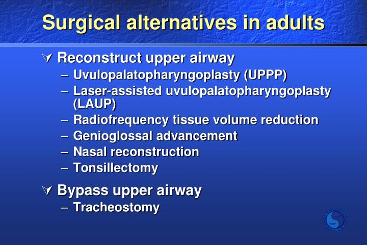 Surgical alternatives in adults