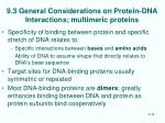 9 3 general considerations on protein dna interactions multimeric proteins