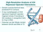 high resolution analysis of 434 repressor operator interactions