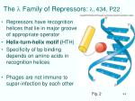 the l family of repressors l 434 p22