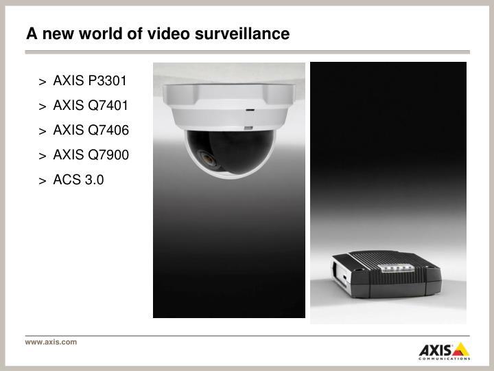A new world of video surveillance