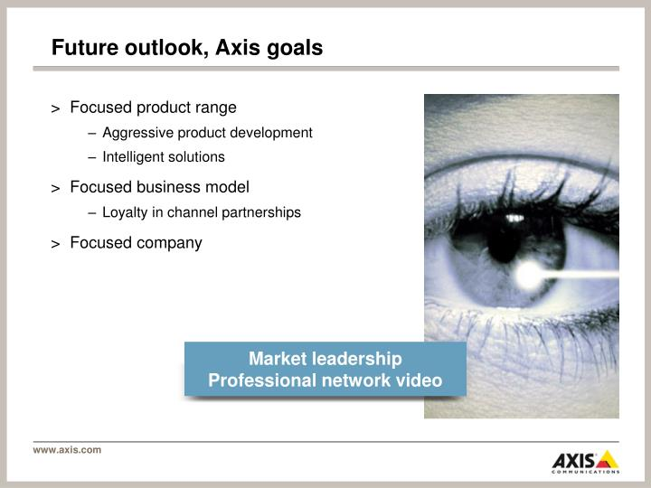 Future outlook, Axis goals