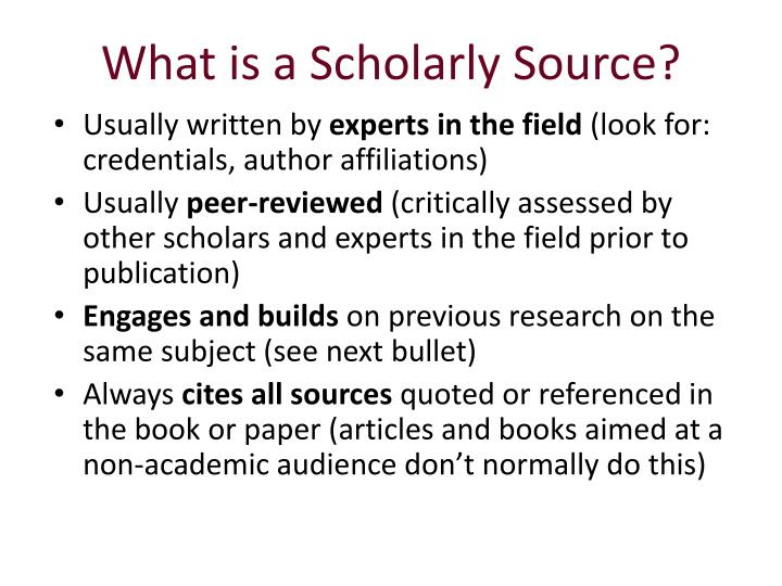What is a Scholarly