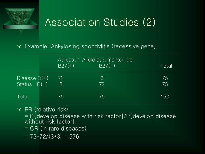 Association Studies (2)