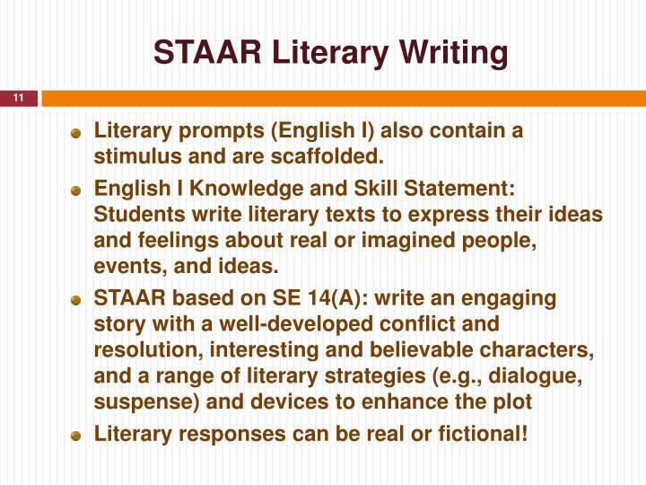 STAAR Literary Writing
