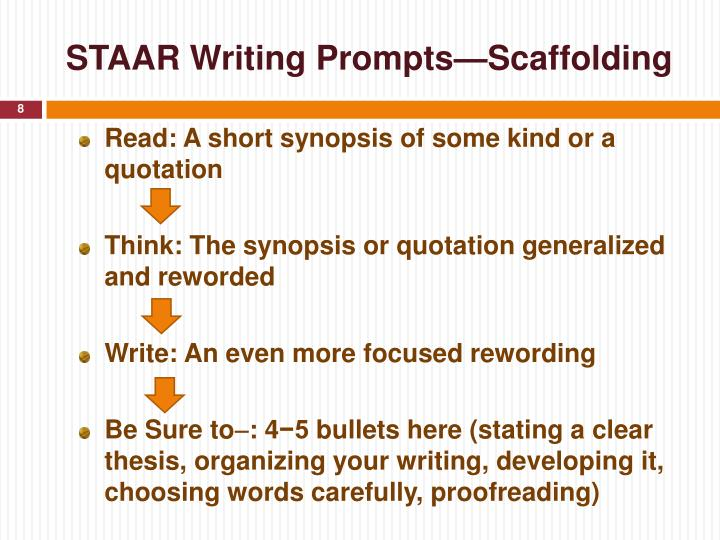 STAAR Writing Prompts—Scaffolding