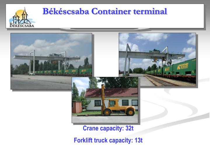 Békéscsaba Container terminal