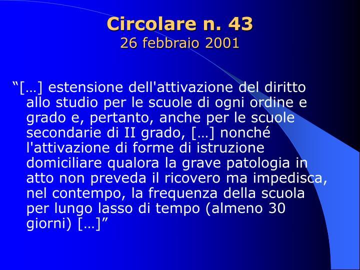 Circolare n. 43