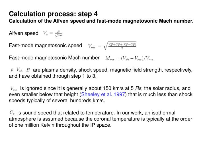 Calculation process: step 4
