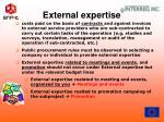 external expertise