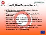 ineligible expenditure i