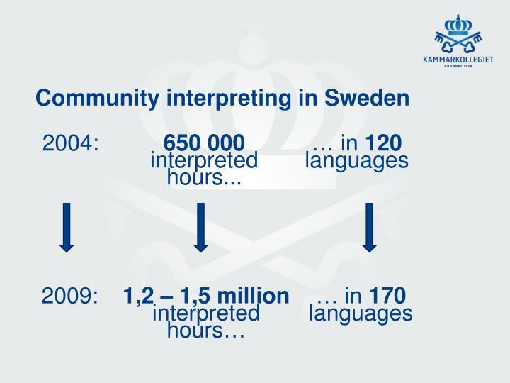 Community interpreting in sweden
