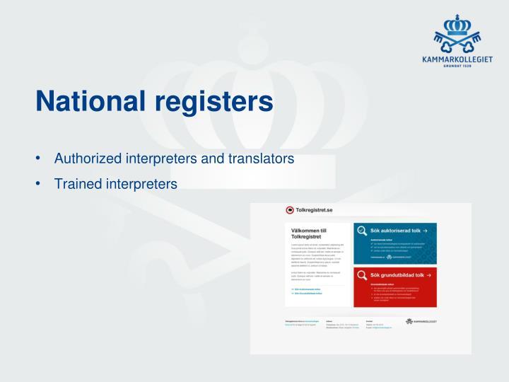 National registers