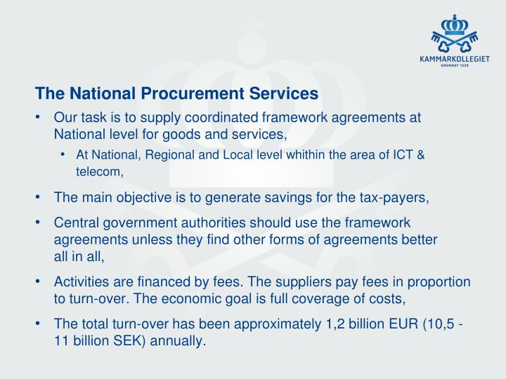 The National Procurement Services