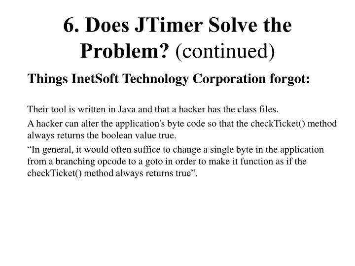 6. Does JTimer Solve the Problem?