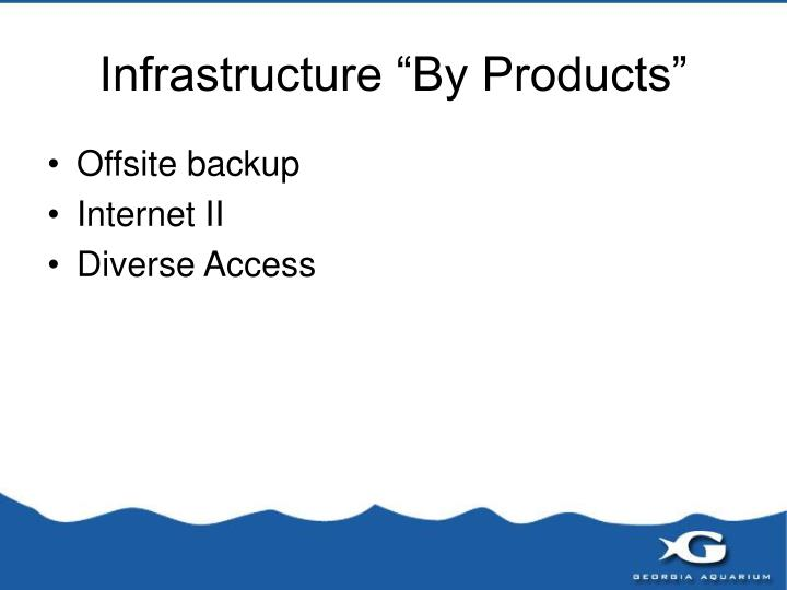 """Infrastructure """"By Products"""""""