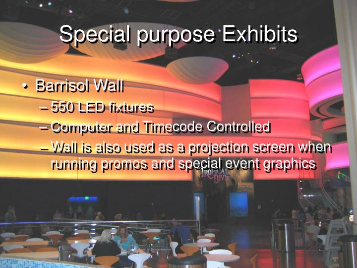 Special purpose Exhibits
