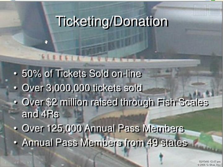Ticketing/Donation