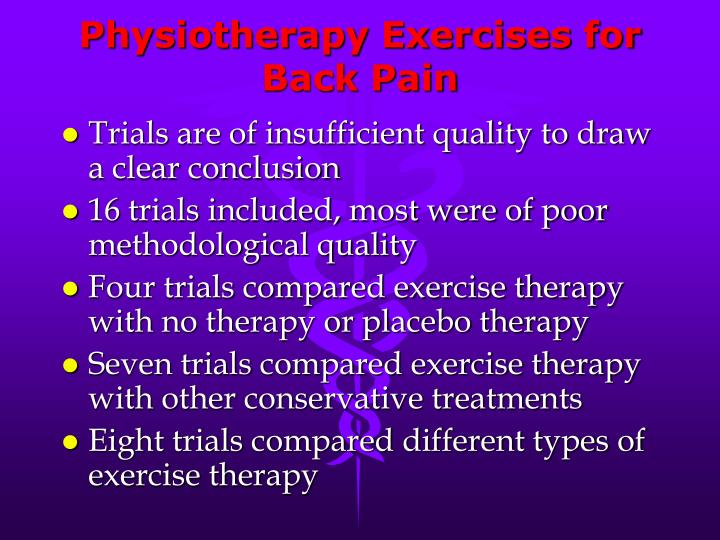 Physiotherapy Exercises for Back Pain