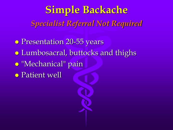 Simple Backache
