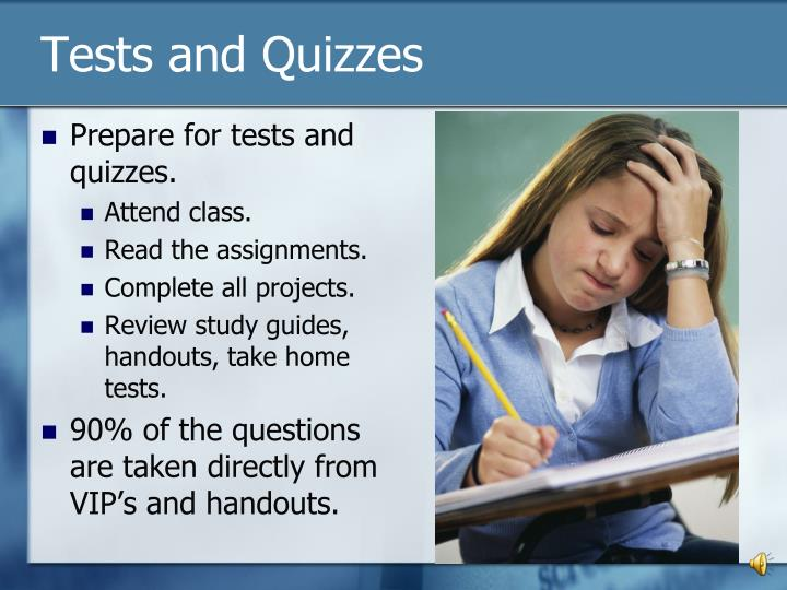 Tests and Quizzes