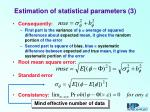 estimation of statistical parameters 3