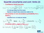 quantile uncertainty and conf limits 2