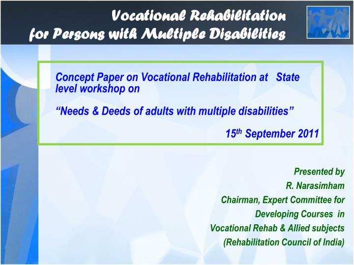 vocational rehabilitation for persons with multiple disabilities n.