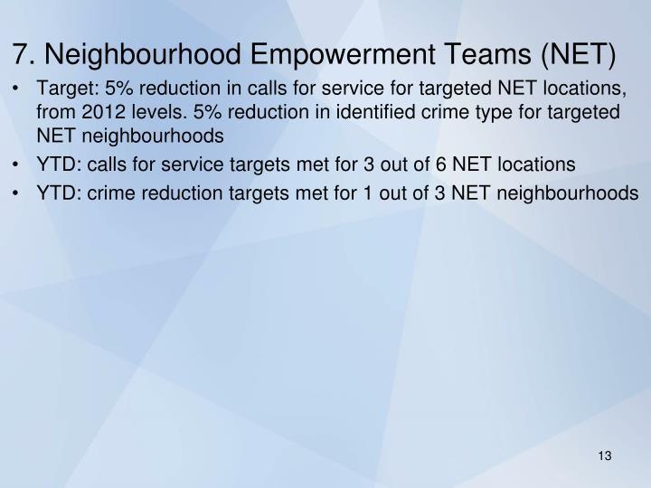 7. Neighbourhood Empowerment Teams (NET)