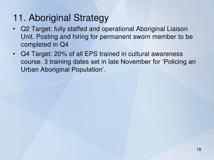 11. Aboriginal Strategy