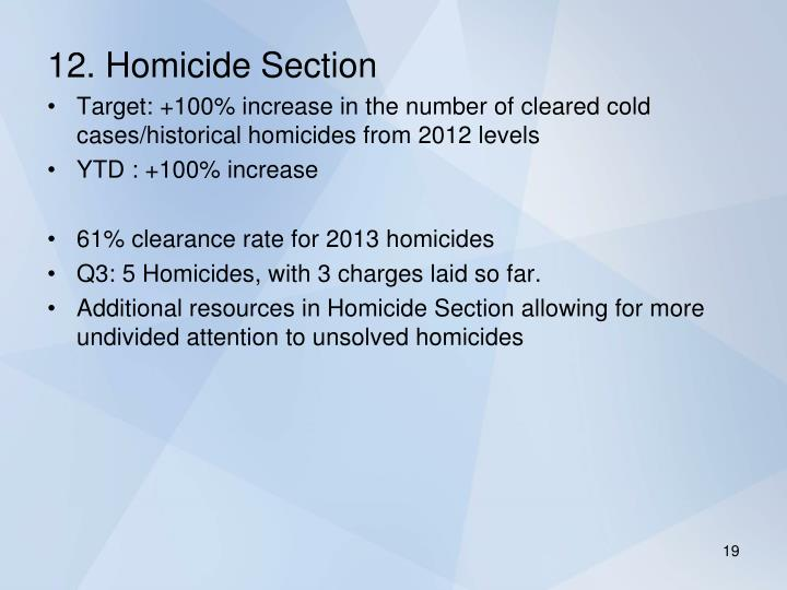 12. Homicide Section