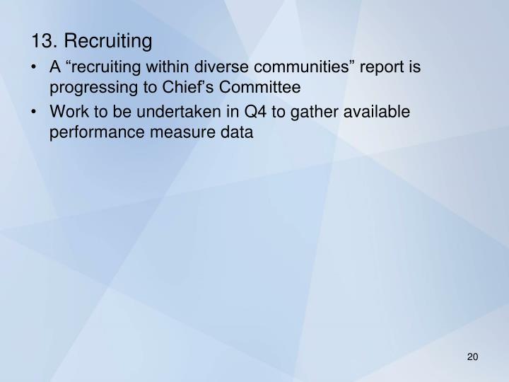13. Recruiting