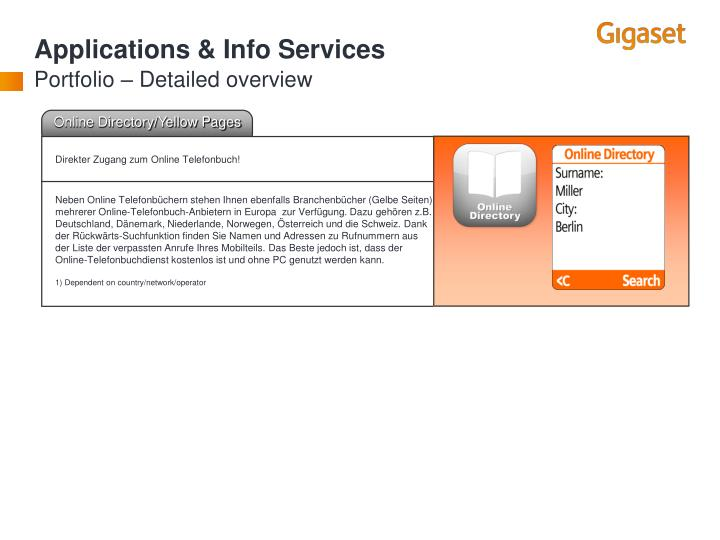 Applications & Info Services