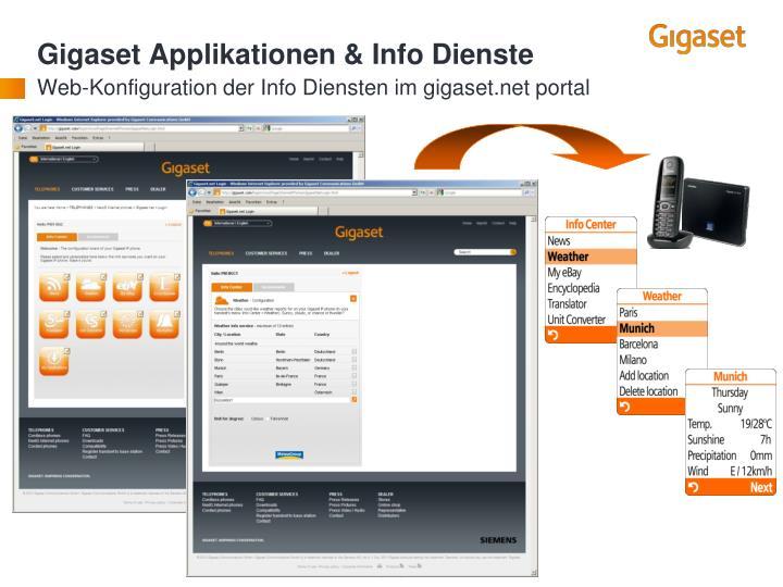 Gigaset Applikationen & Info Dienste