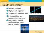 growth with stability