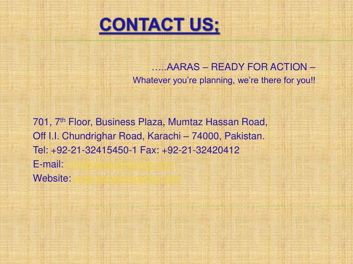 Contact Us;