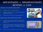 advantages disadvantages keypad vs lcd