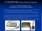 cyberwire base station options